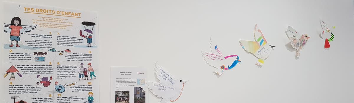 30 ans de la Convention Internationale des Droits de l'Enfant - Echange d'oiseaux entre deux Maisons des Familles